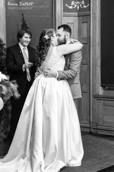 The first kiss as husband and wife!