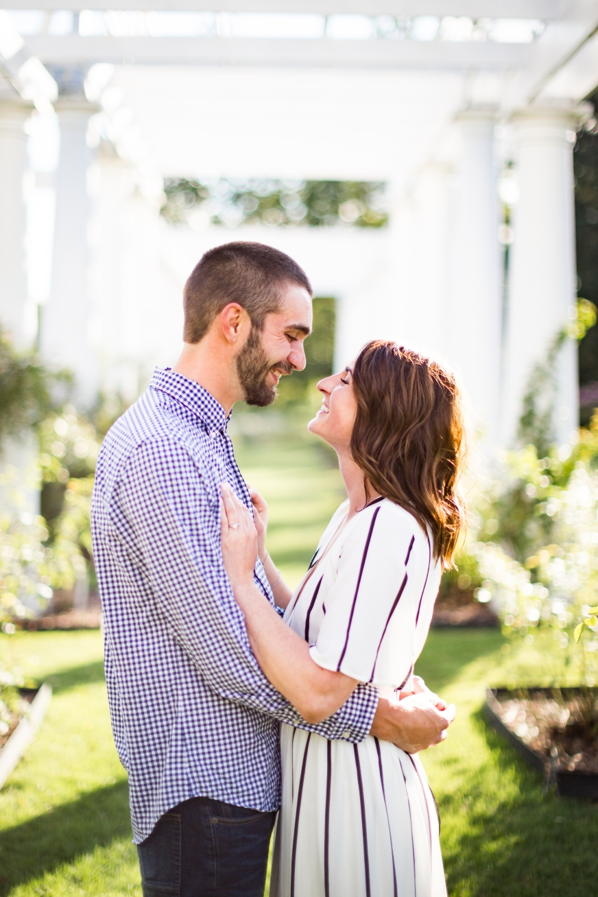 Fort Wayne Lakeside Rosegarden Summer Engagement Session